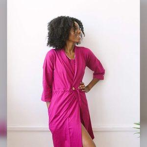 Brobe | Mastectomy Recovery Robe Magenta Size M